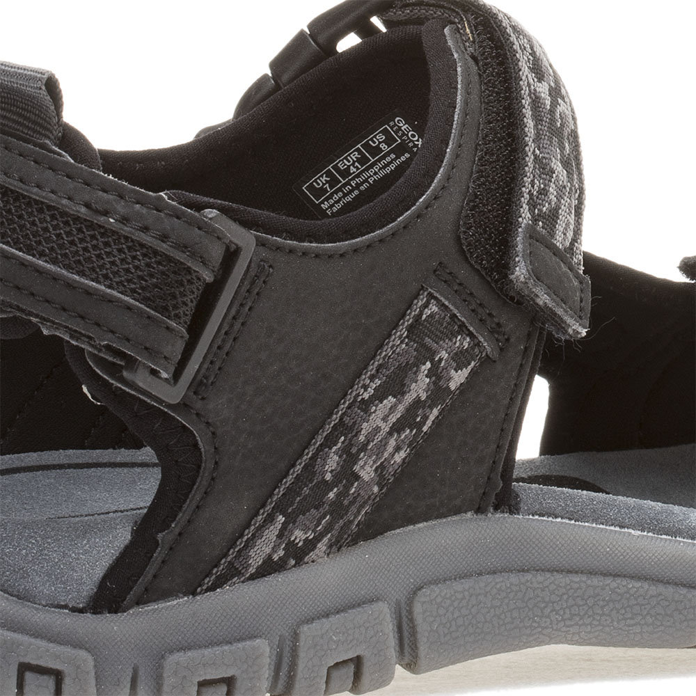 Sandali con chiusura a velcro neri GEOX SCARPE Acquista su Ventis.