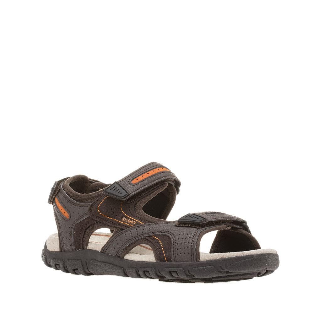 GEOX Sandalo Uomo Velcro Marrone