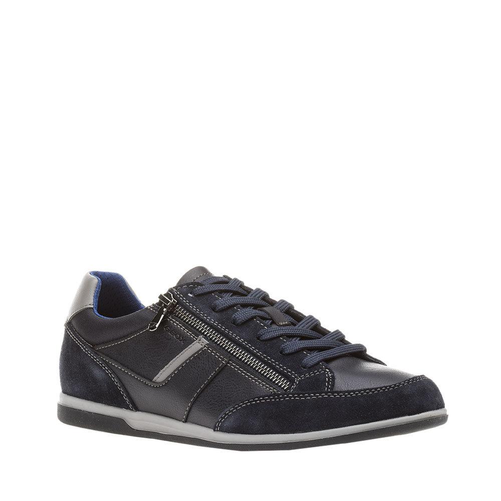 Sneaker Renan blu con zip Uomo GEOX | L'Angolo Calzature