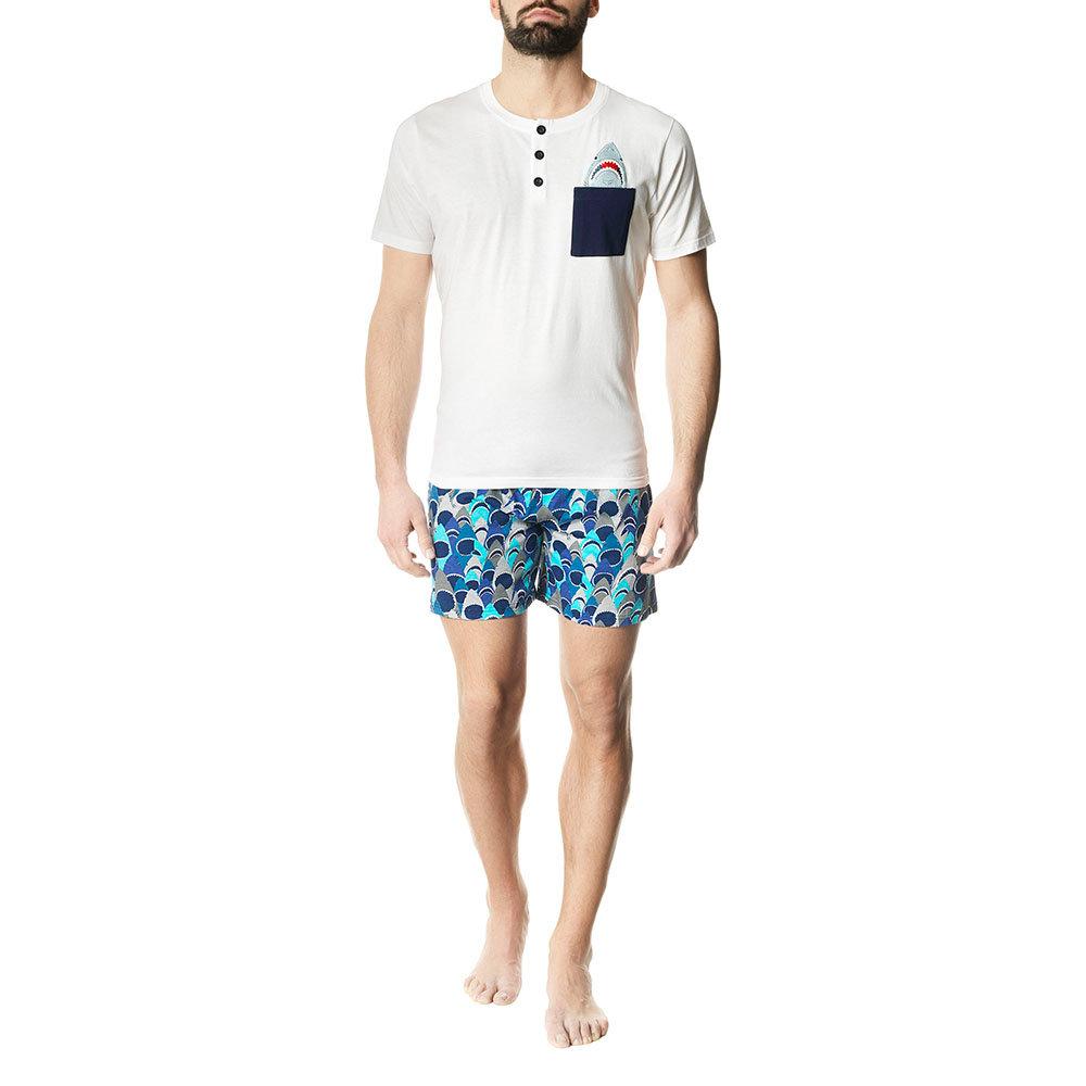 prezzo di fabbrica 140bd 34981 Pigiama corto fantasia squali multicolor - Pompea uomo - Acquista su Ventis.