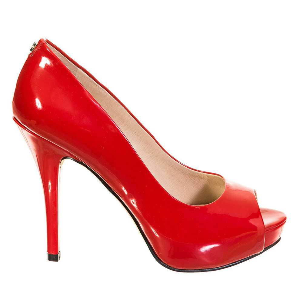 Decolletes con punta aperta rosse Guess Scarpe Acquista su Ventis.