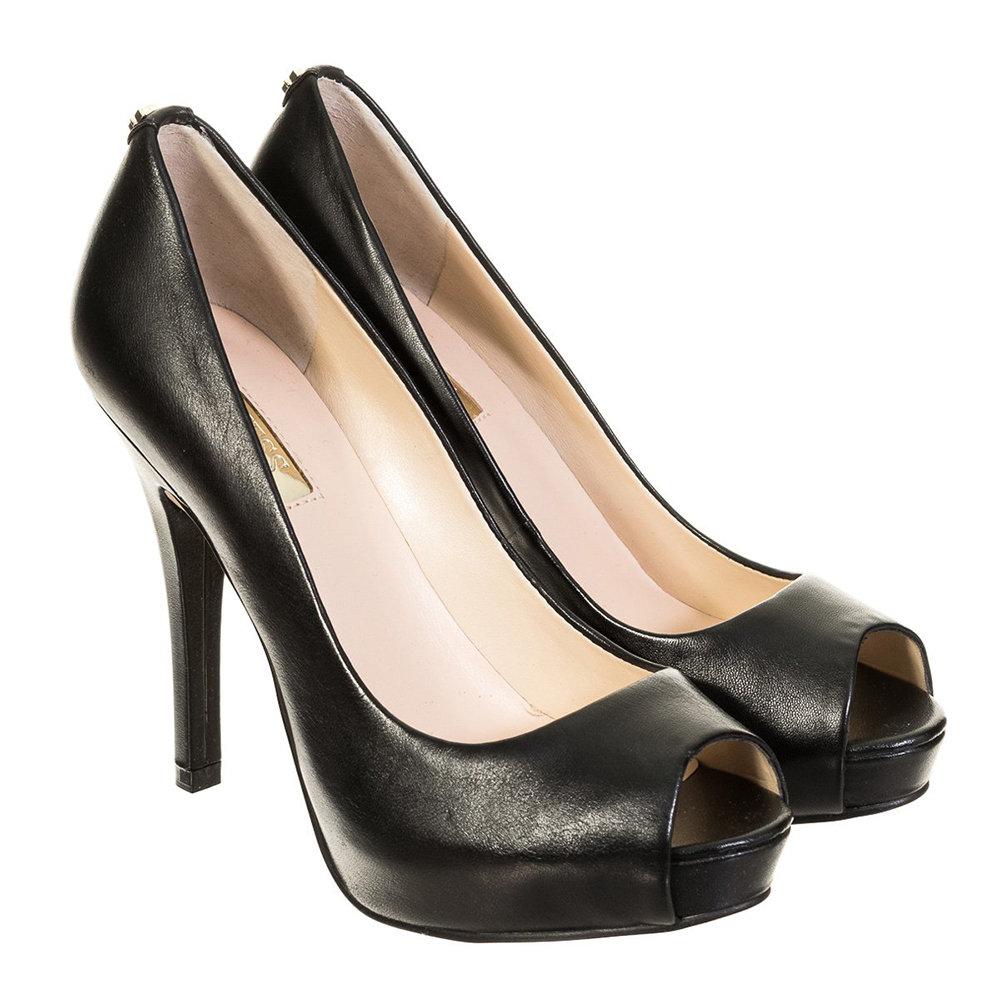 Decolletes con punta aperte nere Guess Scarpe Acquista su Ventis.