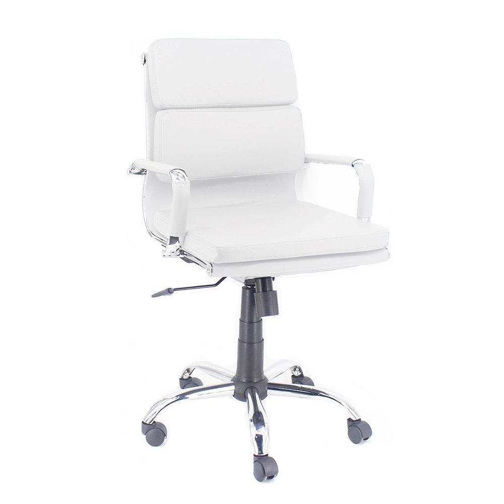 Sedie Dirigenziali Per Ufficio.Poltrona Mito Dirigenziale In Similpelle Bianco Cromo Sedie Ufficio Acquista Su Ventis