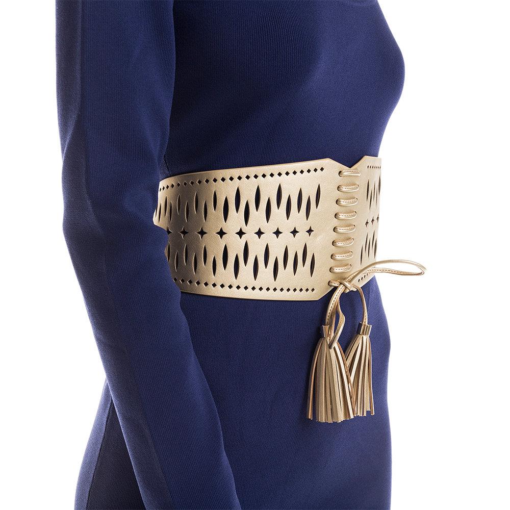Cintura a bustino oro con nappe Liu Jo Acquista su Ventis.
