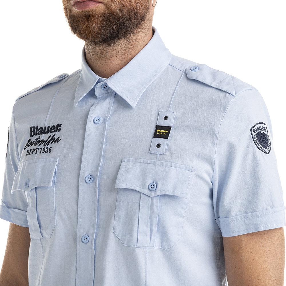 camicia maniche corte blauer in vendita | eBay