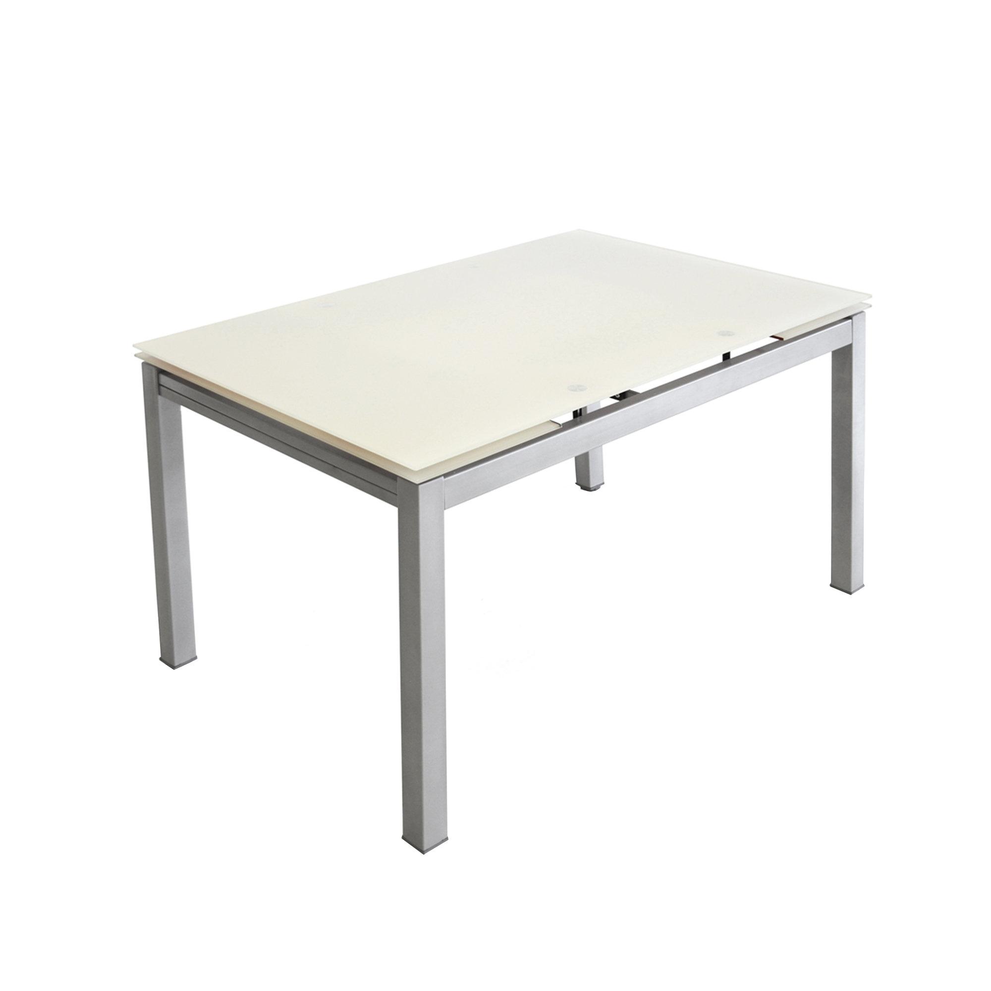 Tavolo Notorius, alluminio/bianco