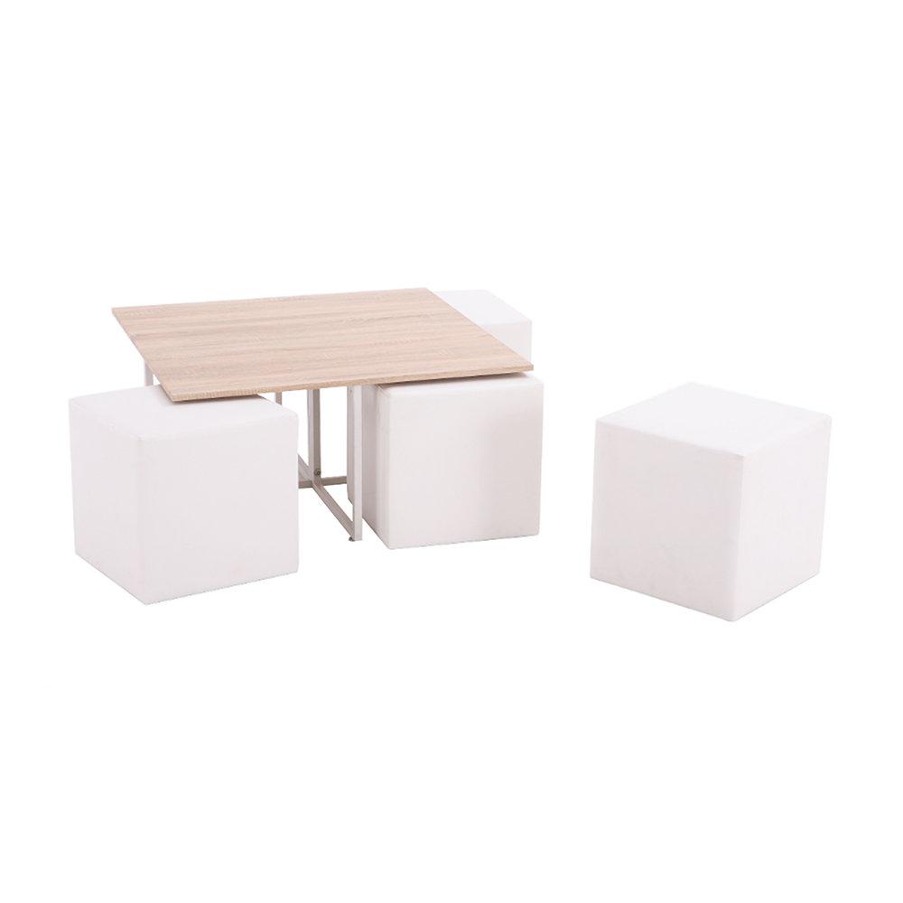 Tavolino 4 Pouf.Set Coffee Break Tavolino 4 Pouf Bianco Speciale Tavoli Acquista Su Ventis