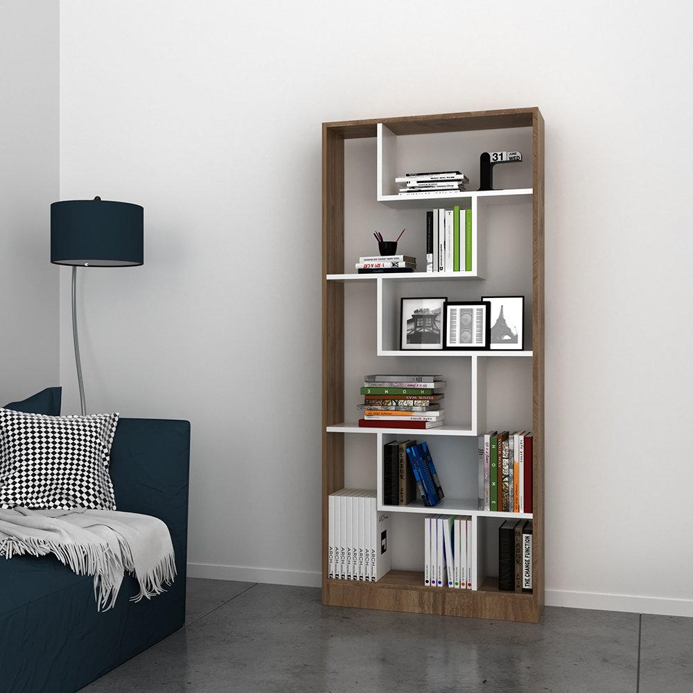 Libreria riga bianco noce casa nuova arredo nuovo for Nuova arredo inserimenti