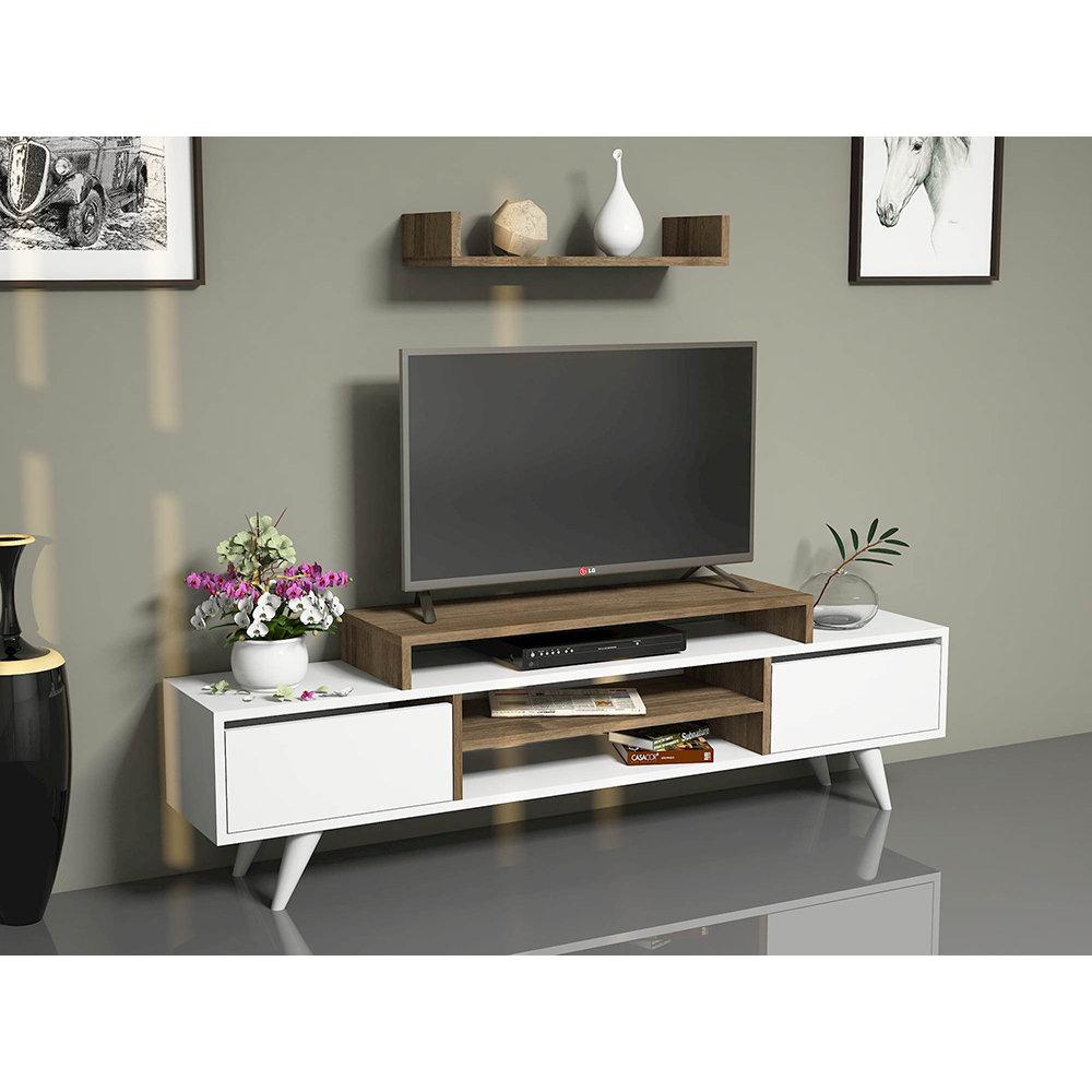 Mobile porta tv melis bianco noce casa nuova arredo for Nuova arredo inserimenti