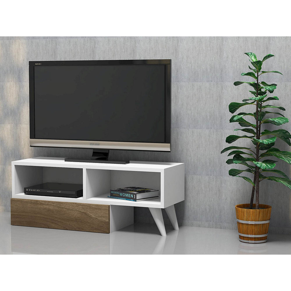 Mobile porta tv active bianco noce casa nuova arredo for Nuova arredo inserimenti