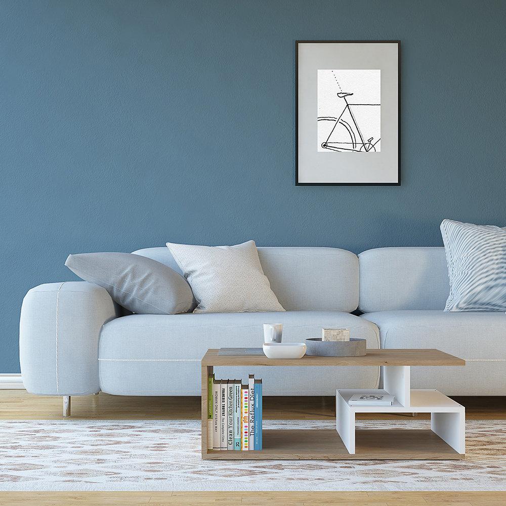 Tavolino denver legno naturale bianco casa nuova for Nuova arredo inserimenti