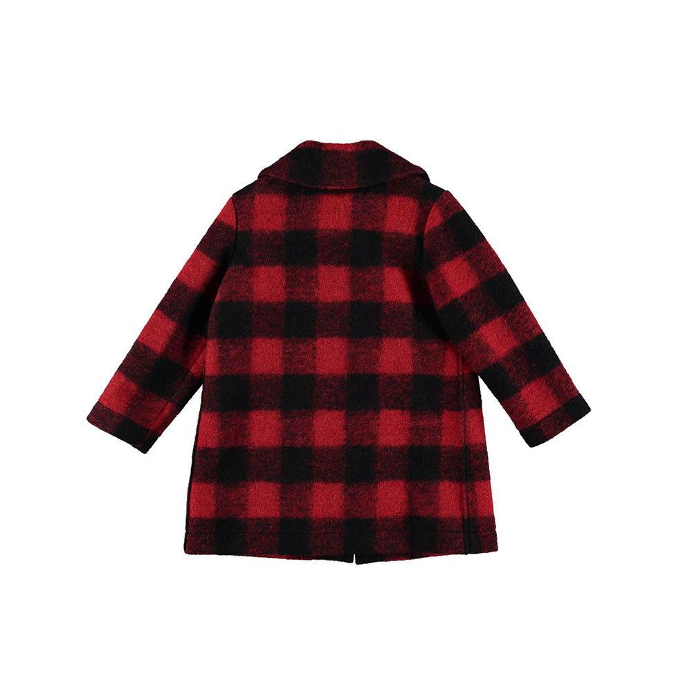 sale retailer 02591 c8046 Cappotto scozzese rosso e nero - TOURISTE - Acquista su Ventis.