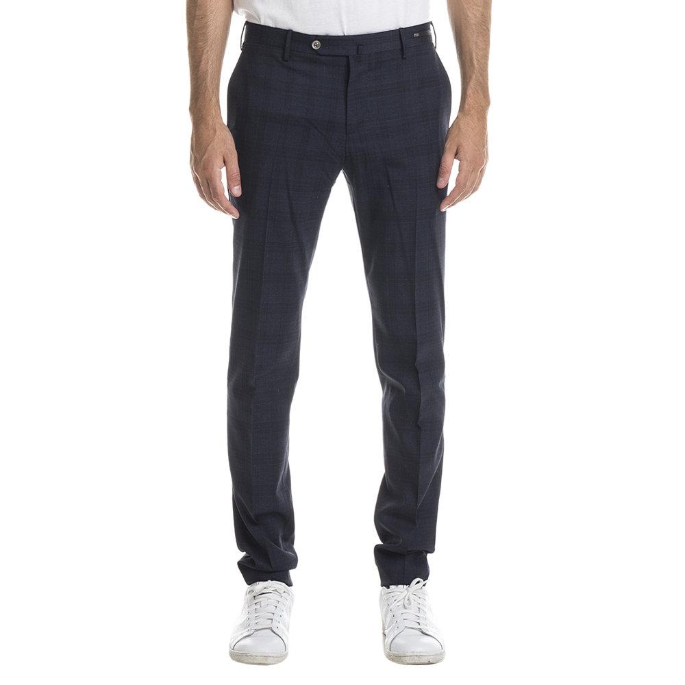 Image of Pantaloni a fantasia Principe di Galles blu e nero