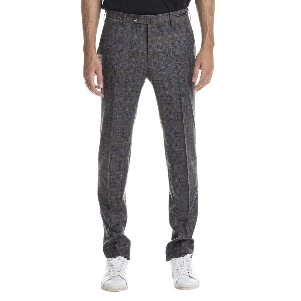 Image of Pantaloni in lana vergine Principe di Galles