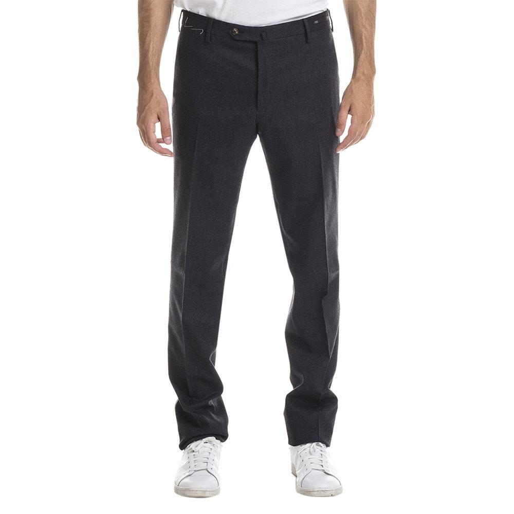Pantaloni in lana vergine stretch grigio antracite