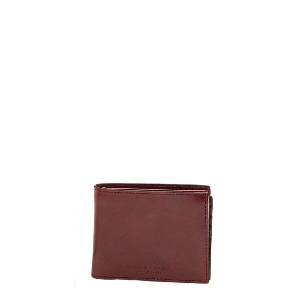 disponibilità nel Regno Unito c1655 e0075 Micro portafoglio uomo con patta bordeaux - The Bridge - Acquista su Ventis.