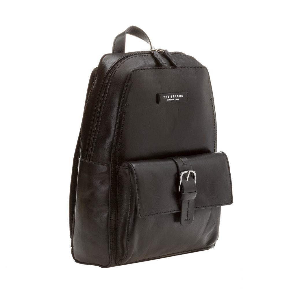 grande vendita 2601d 3db5b Zaino uomo con maxi tasca frontale nero - The Bridge - Acquista su Ventis.