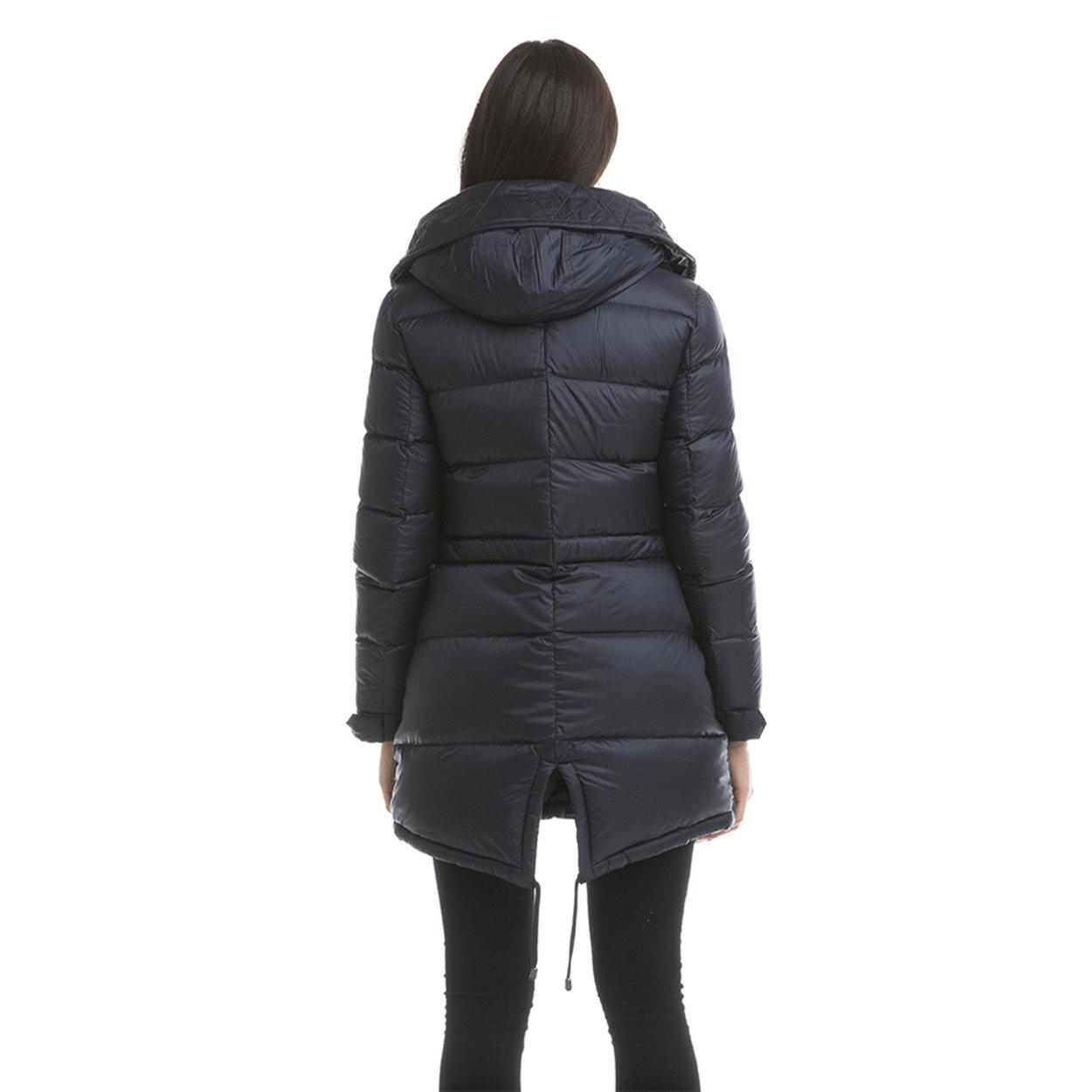 a basso prezzo d98e8 ed902 Giubbotto donna con maxi cappuccio blu - Invicta Capispalla - Acquista su  Ventis.