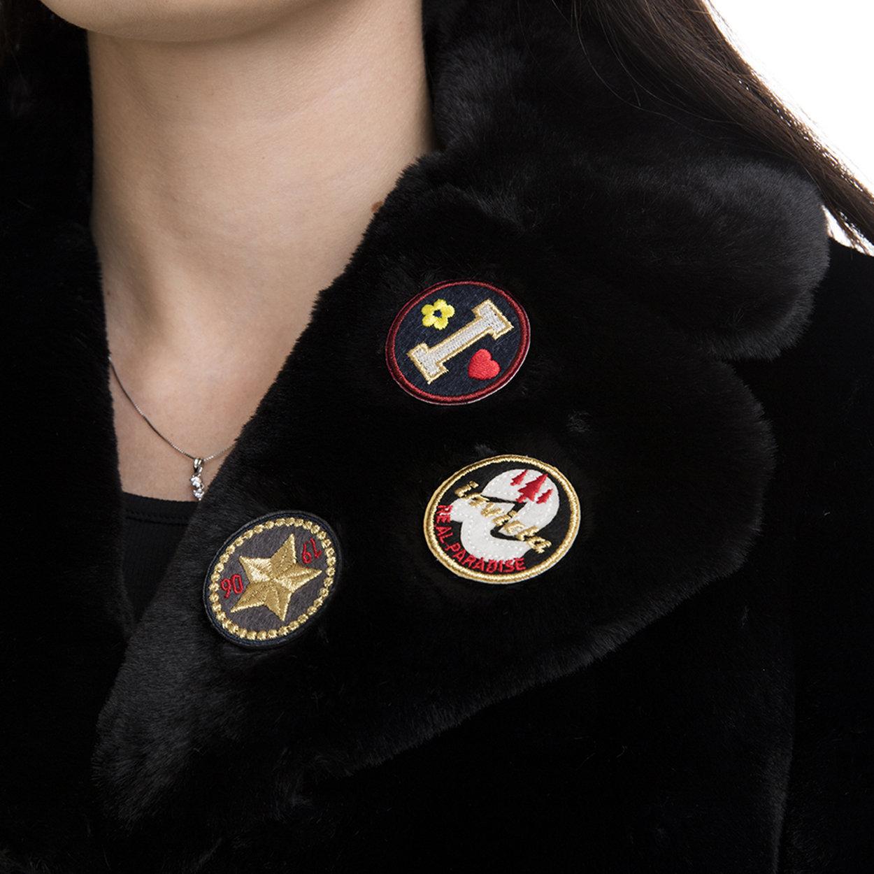 Cappotto donna in tessuto fake fur nero Invicta Capispalla Acquista su Ventis.