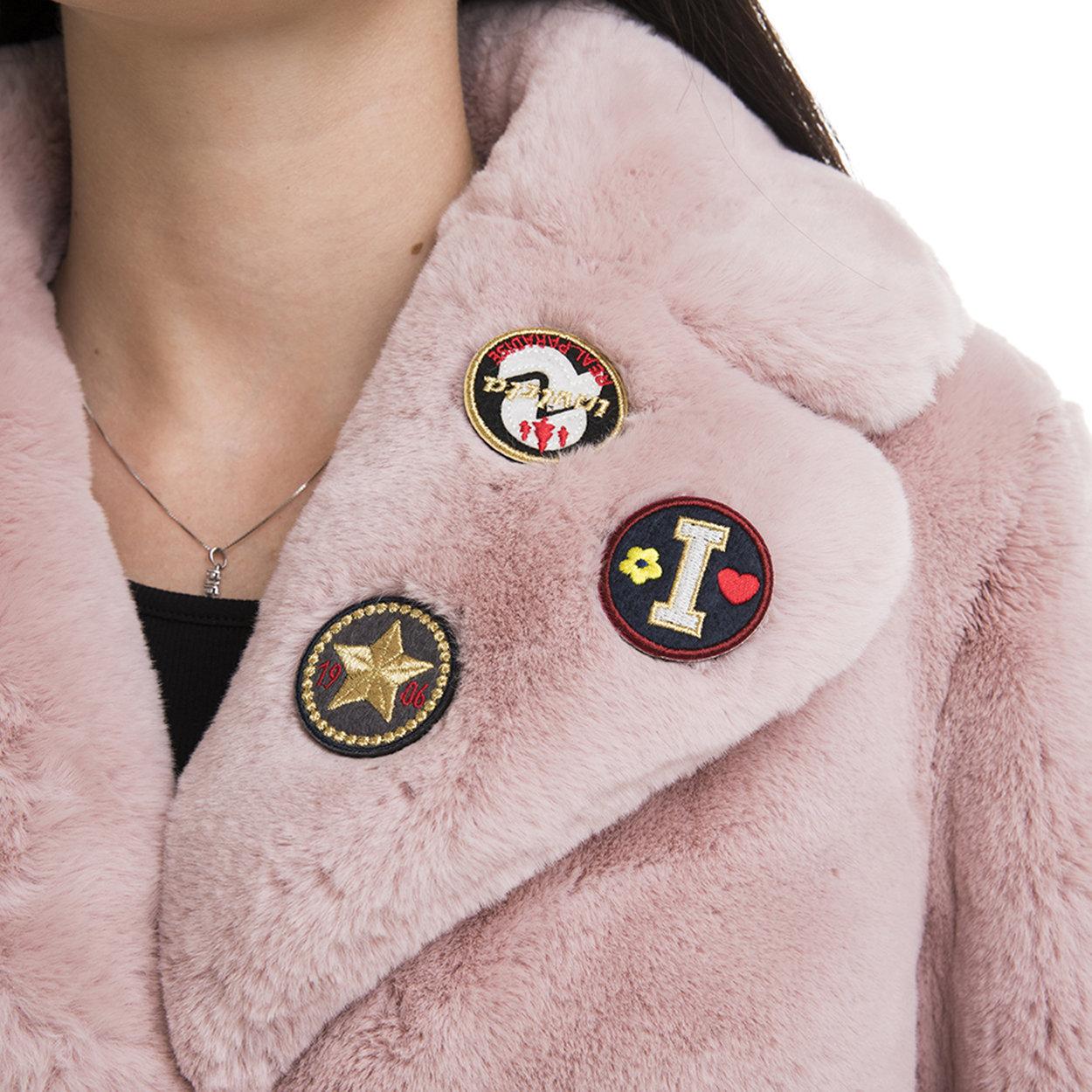 Cappotto donna in tessuto fake fur rosa Invicta Capispalla Acquista su Ventis.