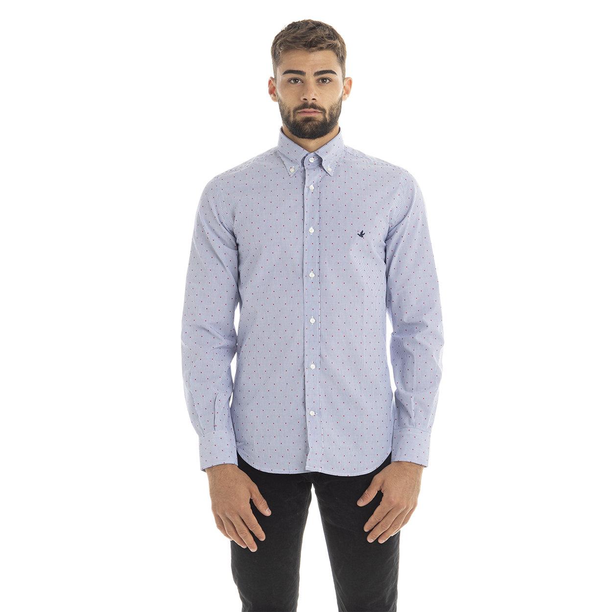 Brooksfield Camicia slim fit con collo button down in cotone