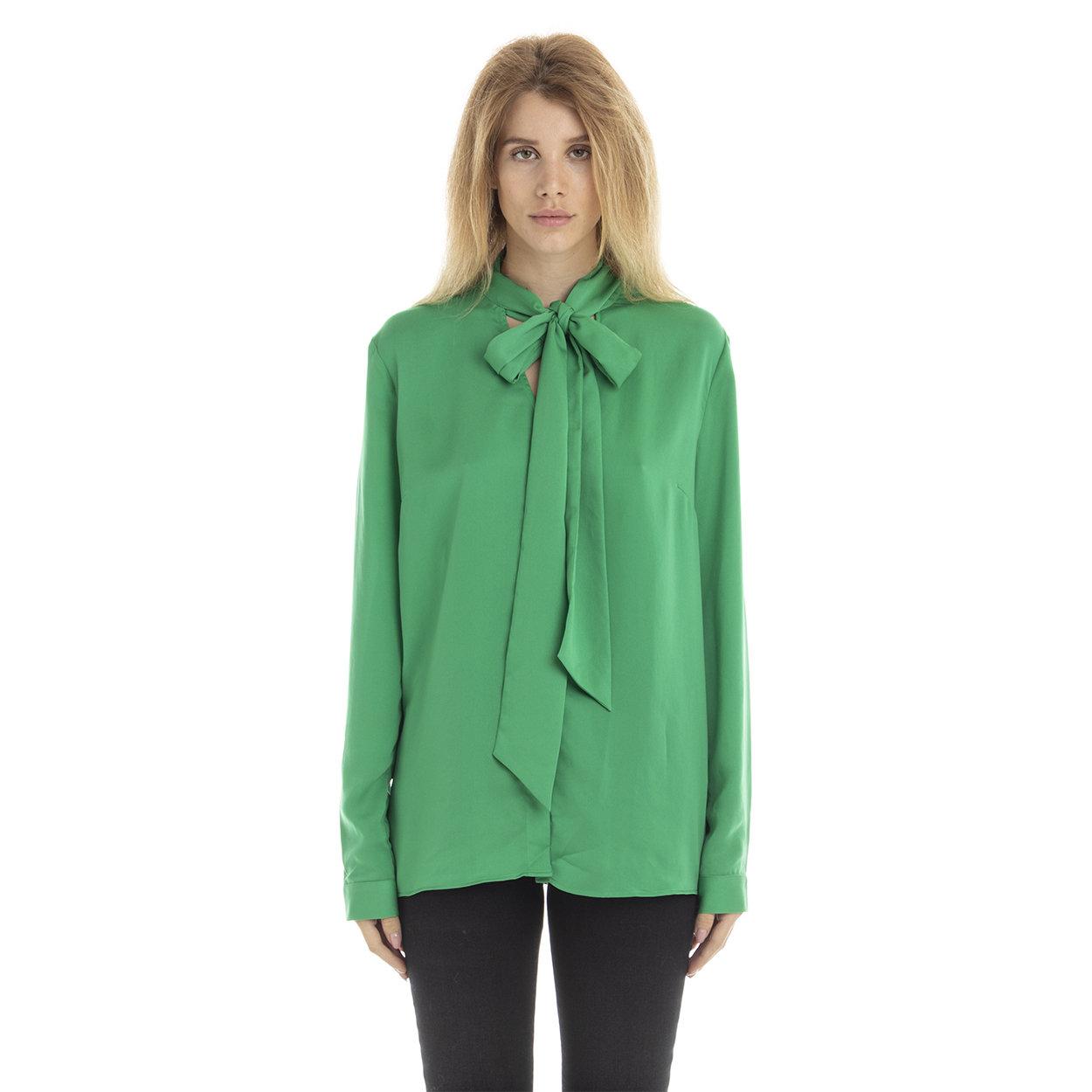 Blusa tinta unita verde Guess by Marciano Acquista su Ventis.