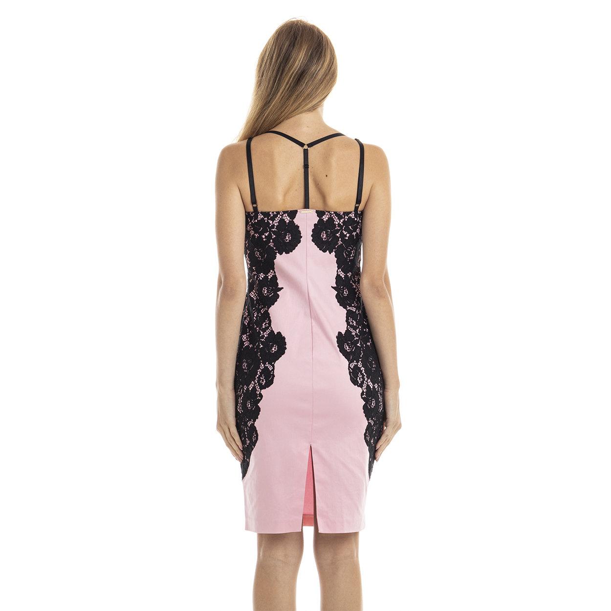 Abito con dettagli in pizzo rosa e nero Guess by Marciano Acquista su Ventis.