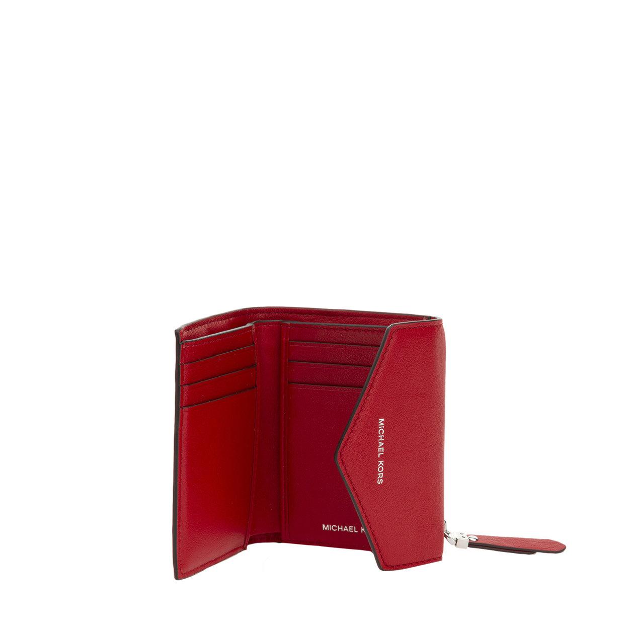 selezione premium 2bc3e dbd58 Portafoglio piccolo a bustina trapuntato rosso - Michael Kors - Acquista su  Ventis.