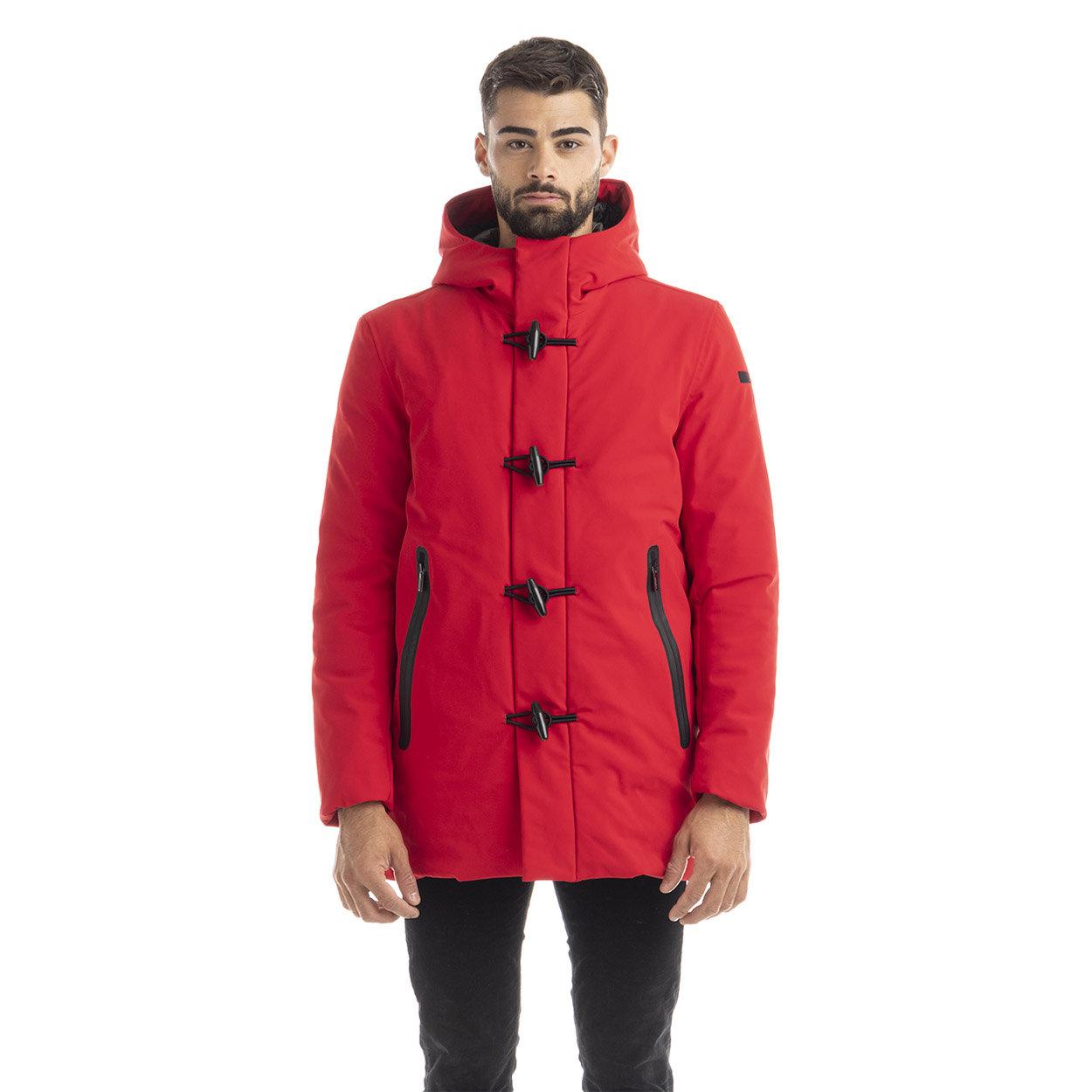 Montgomery con cappuccio fisso rosso Rrd Abbigliamento Acquista su Ventis.
