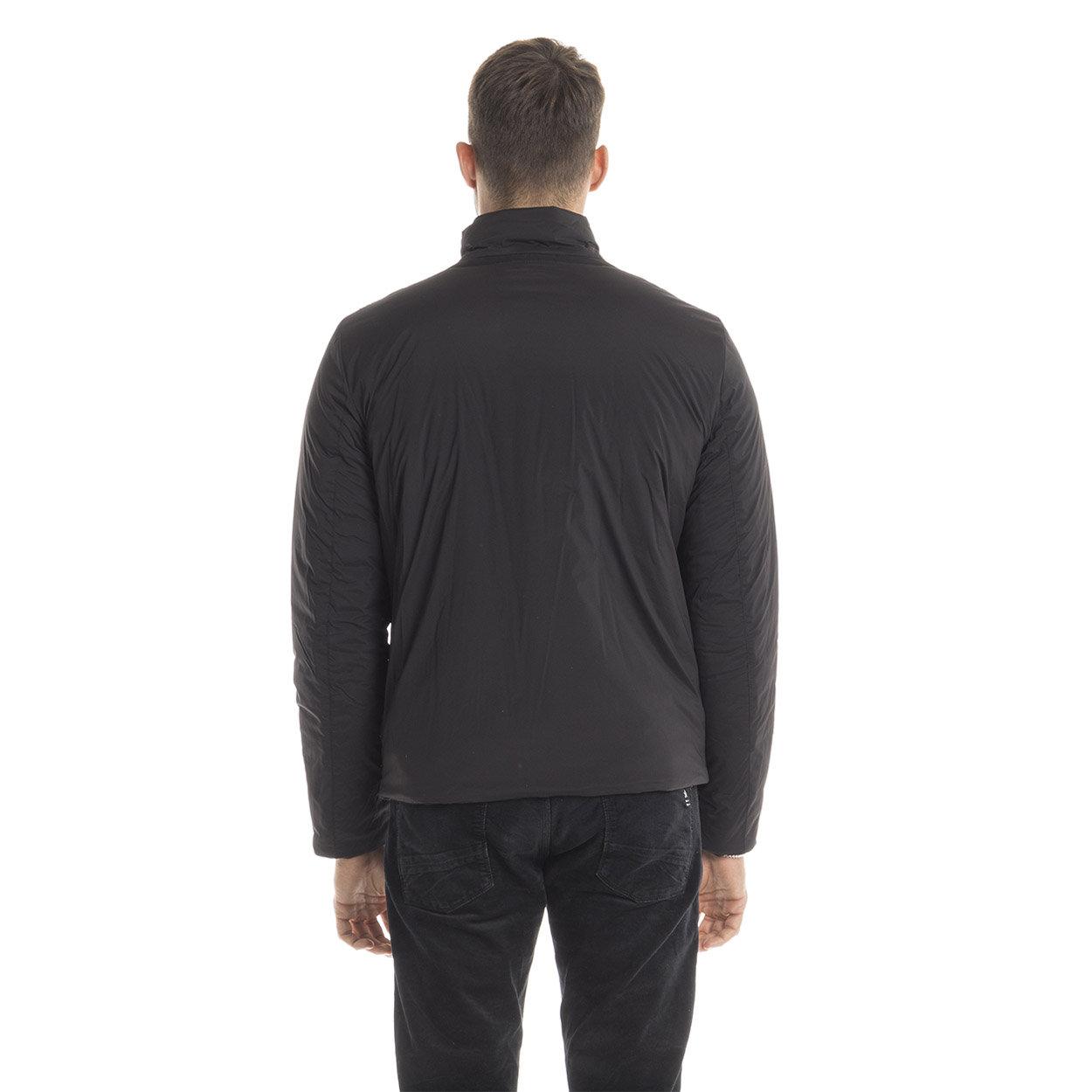 Giubbotto corto con collo alto nero Geox abbigliamento Acquista su Ventis.