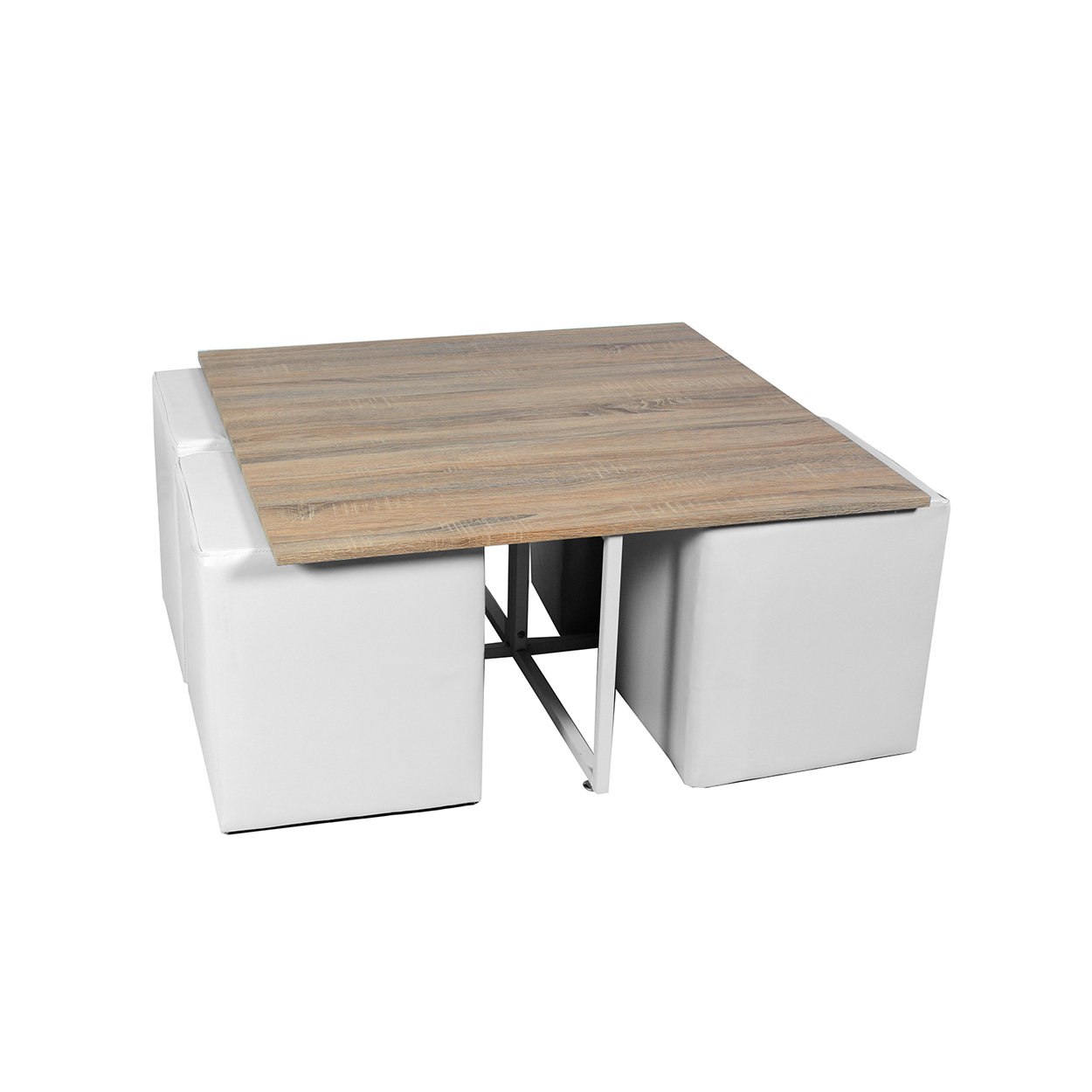 Tavolino 4 Pouf.Set Tavolino 4 Pouf Coffe Break Bianco Cose Di Casa Acquista Su Ventis