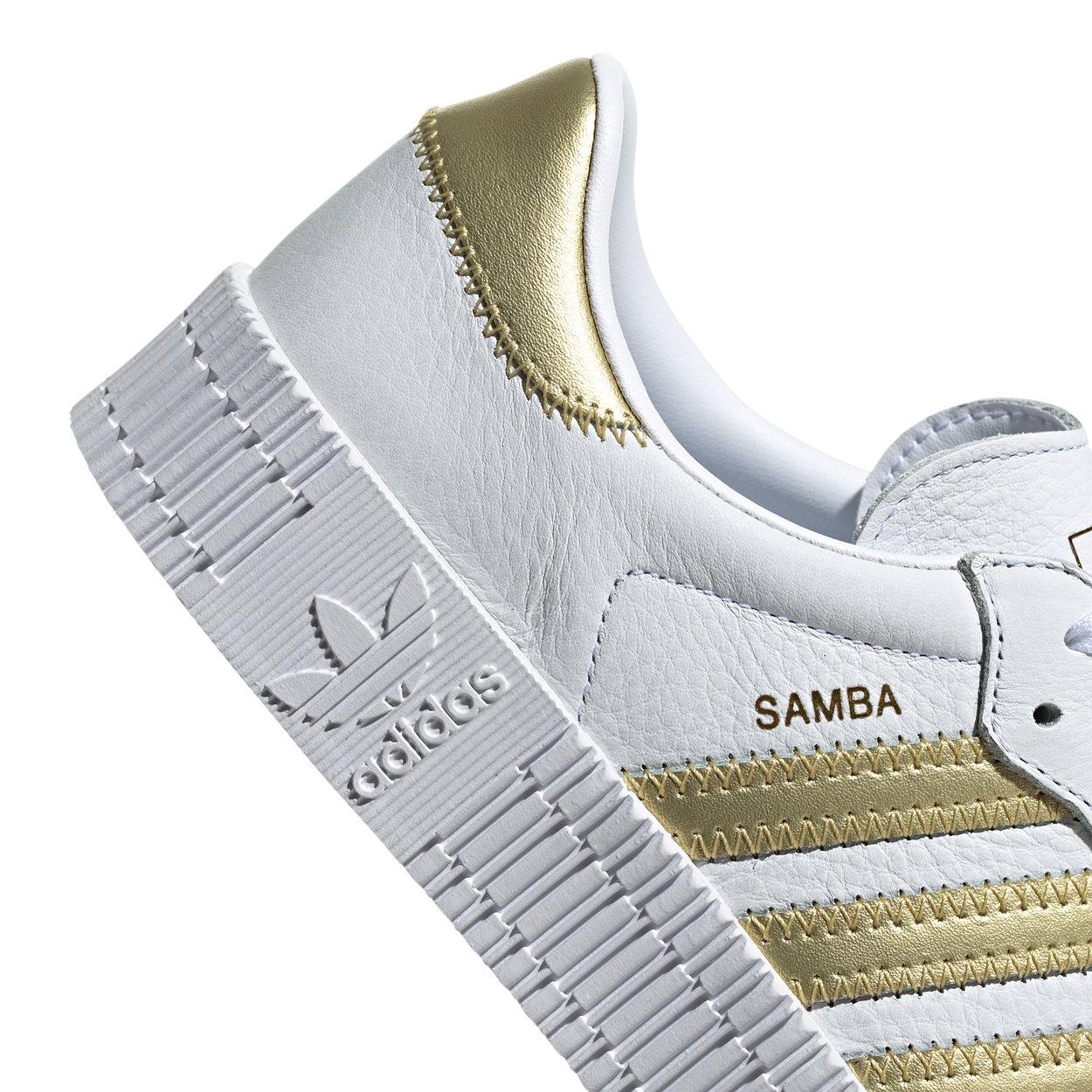 scarpe adidas bianco e oro