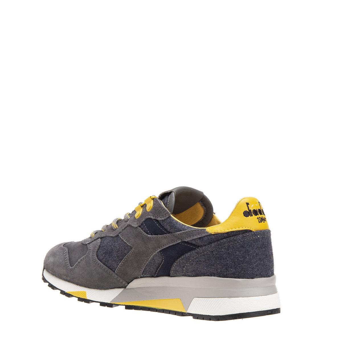 Sneakers Trident 90 Loden grigie e gialle Diadora Heritage Acquista su Ventis.