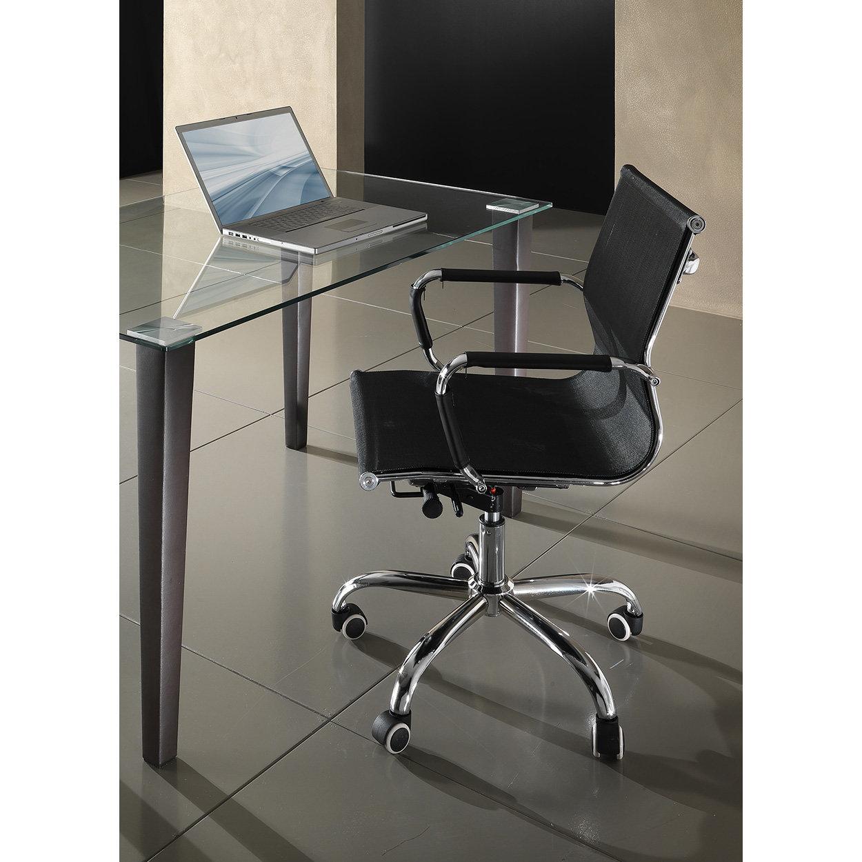 Sedia da ufficio WEB NET, nero - Tomasucci ufficio