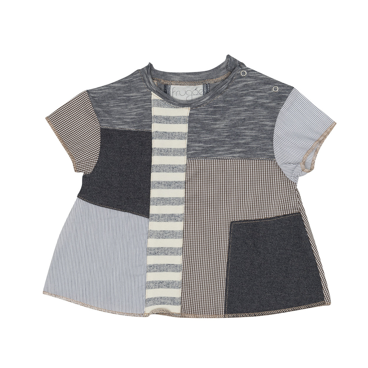 Image of T-shirt patchwork multicolor