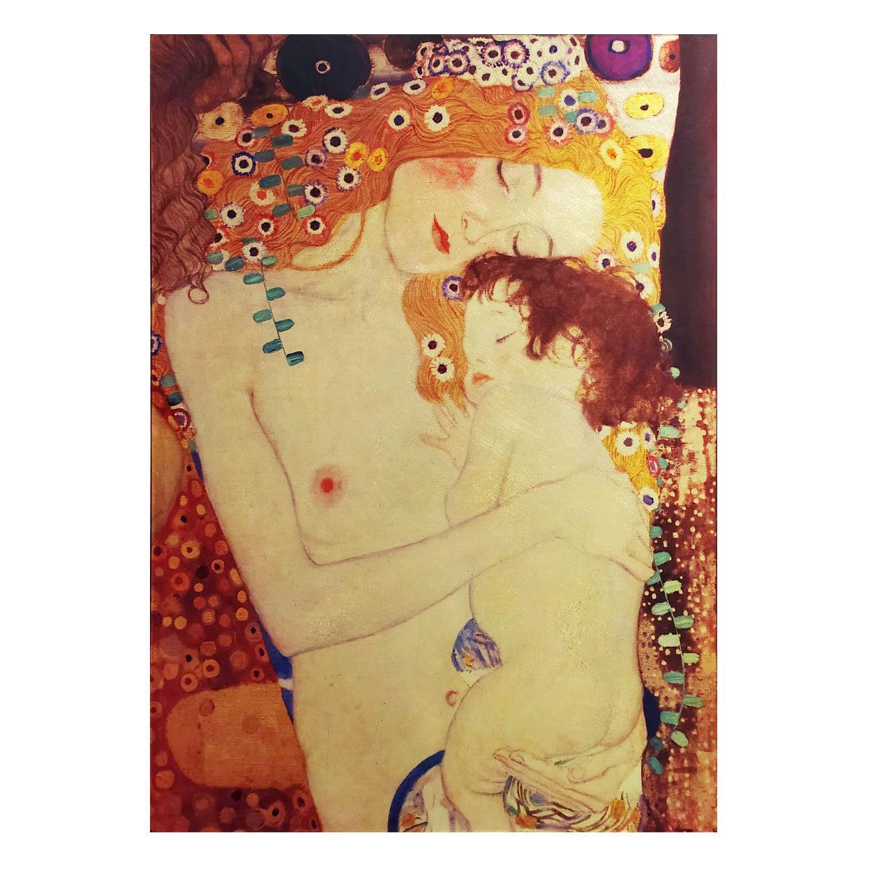 Quadro con lavorazione in foglia dorata - Klimt Donna con bambino -  Florence Glass opere d'arte su vetro - Acquista su Ventis.