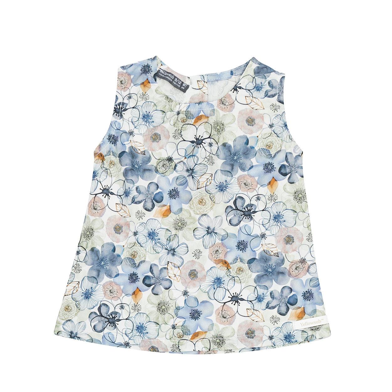 Image of Blusa a fiori multicolor senza maniche