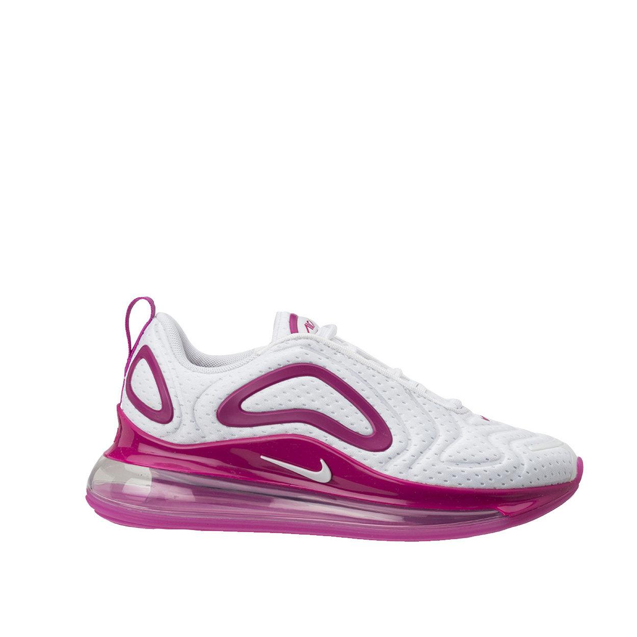 Sneakers Nike Air Max 720 bianche e fucsia