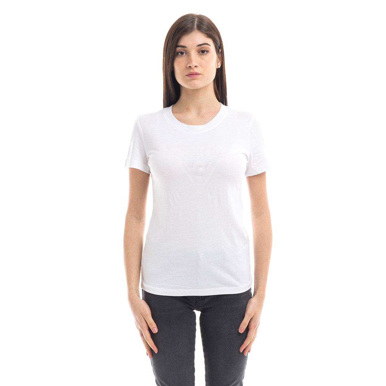 T shirt girocollo con logo bianca Guess Acquista su Ventis.
