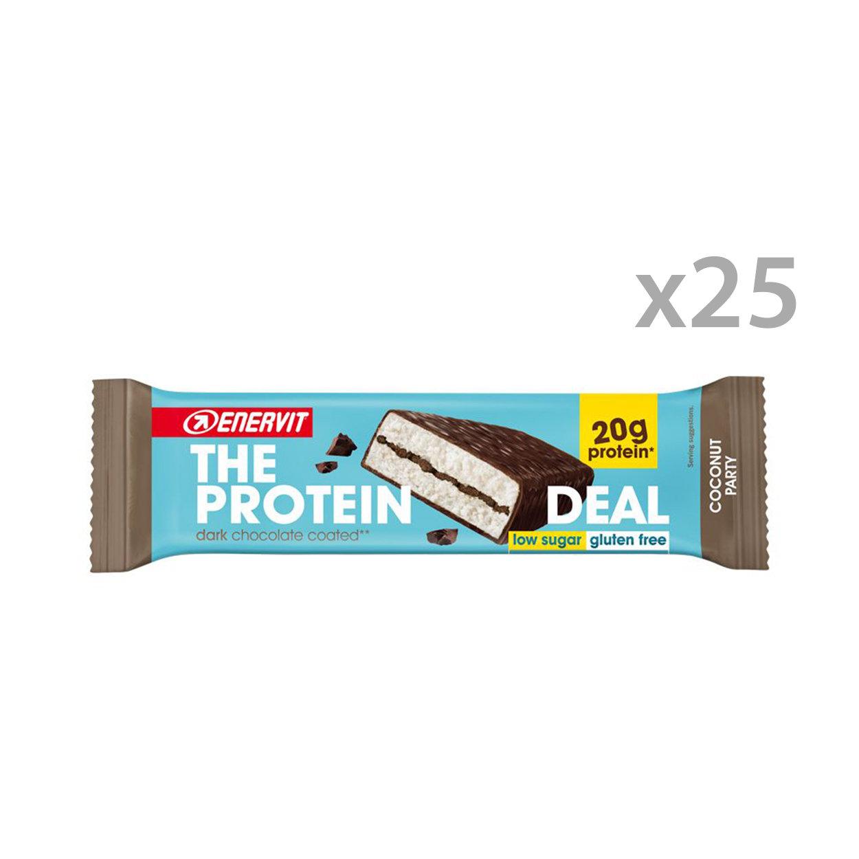 25 barrette da 55 gr - Enervit The Protein Deal Bar Cocco