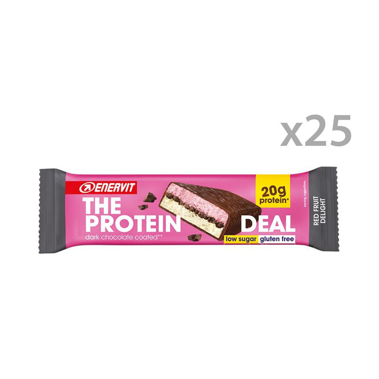 25 barrette da 55 gr - Enervit The Protein Deal Bar Frutti Rossi