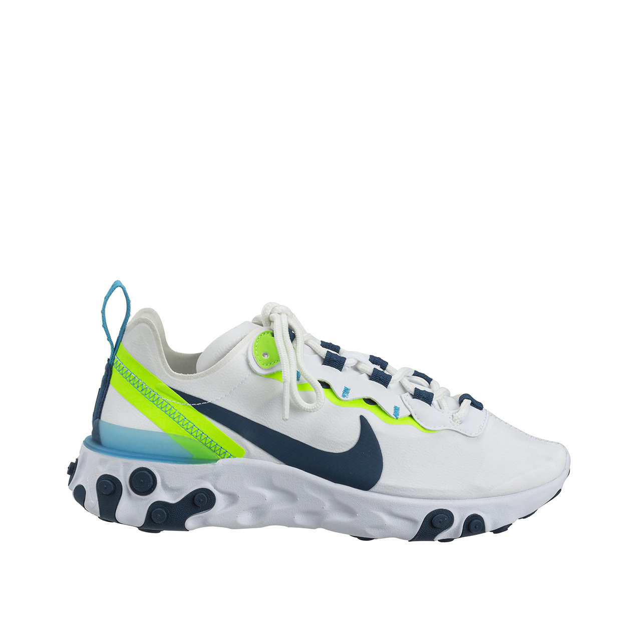 Sneakers Nike React Element 55 white and green fluo