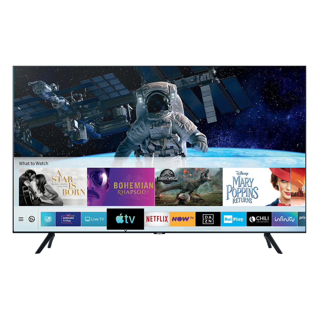"Image of Samsung Crystal UHD 4K 55"", Smart TV, nero"