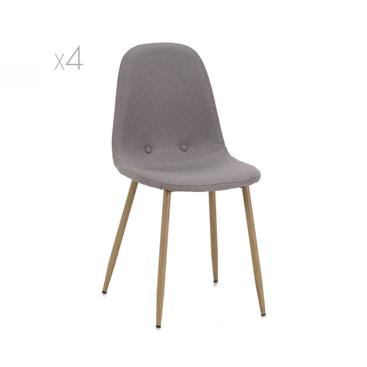 Set 4 sedie DAMASCO, grigio chiaro Speciale sedie Acquista su Ventis.