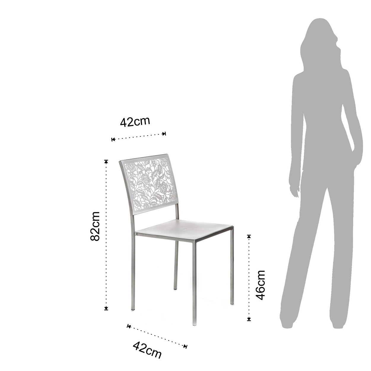 Set 4 sedie CLASSIC, bianco - Tomasucci sedie