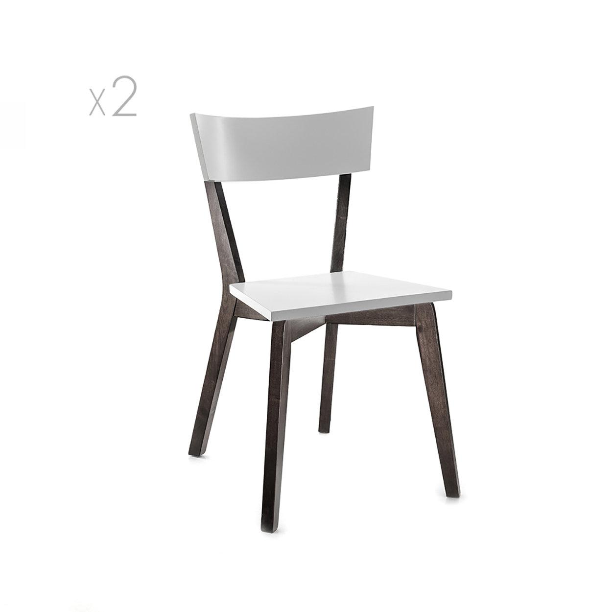 Set 2 sedie KYRA, noce scurobianco Tomasucci SEDIE Acquista su Ventis.