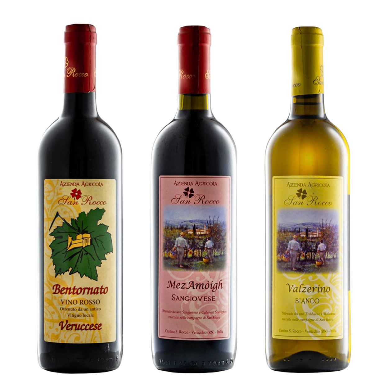"Image of 3 bottiglie miste: ""Bentornato"" 2019 - ""Mezamoigh"" IGT 2019 - ""Valzerino"" IGT 2019"