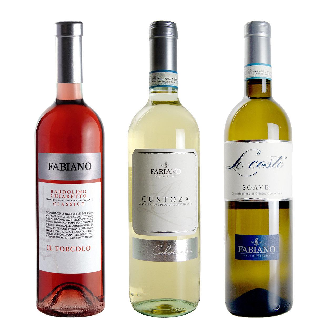 """Image of 3 bottiglie miste: """"Il Torcolo"""" Bardolino Chiaretto DOC Classico 2019 - """"La Calvisana"""" Custova DOC 2019 - """"Le Coste"""" Soave DOC 2019"""