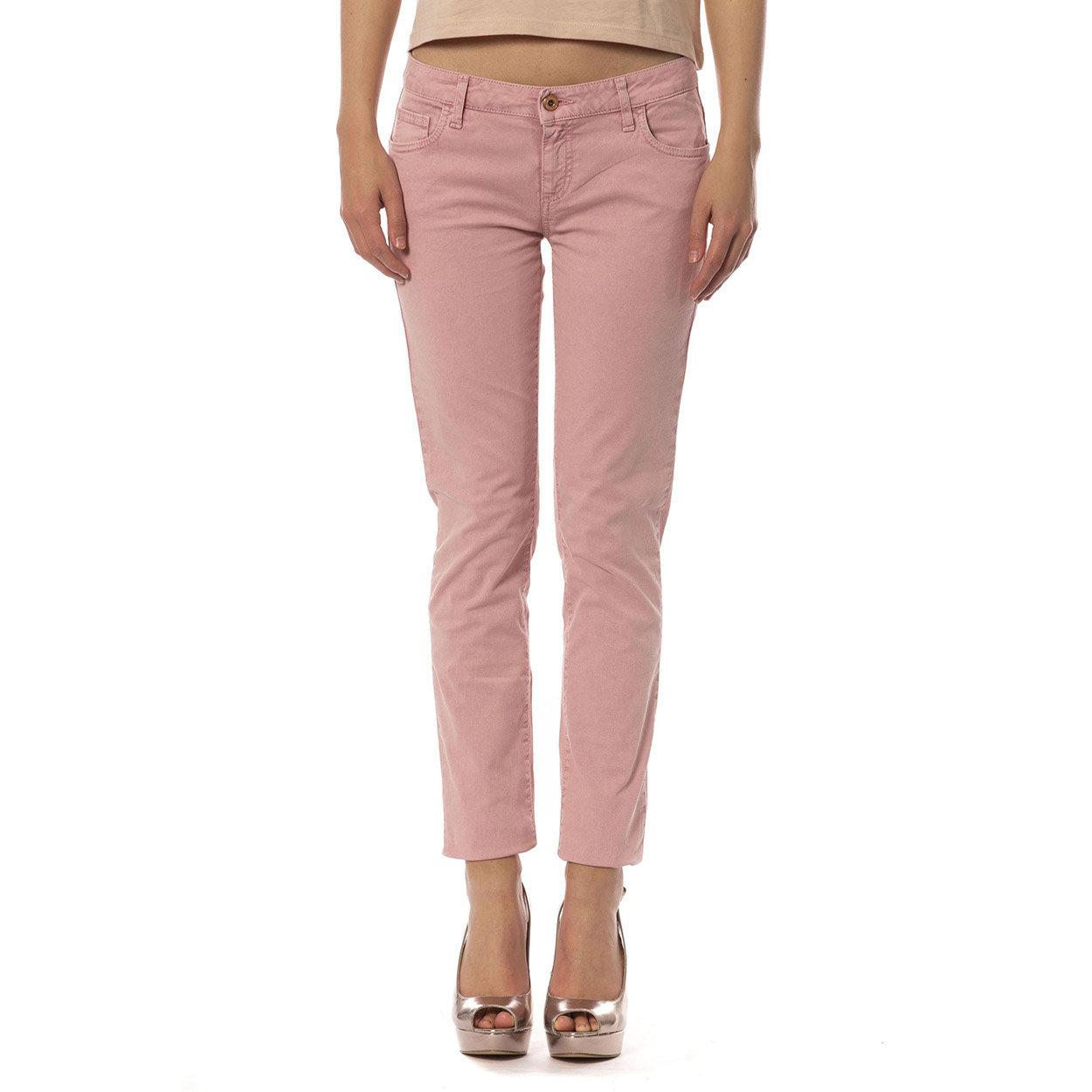 Jeans modello 5 tasche rosa