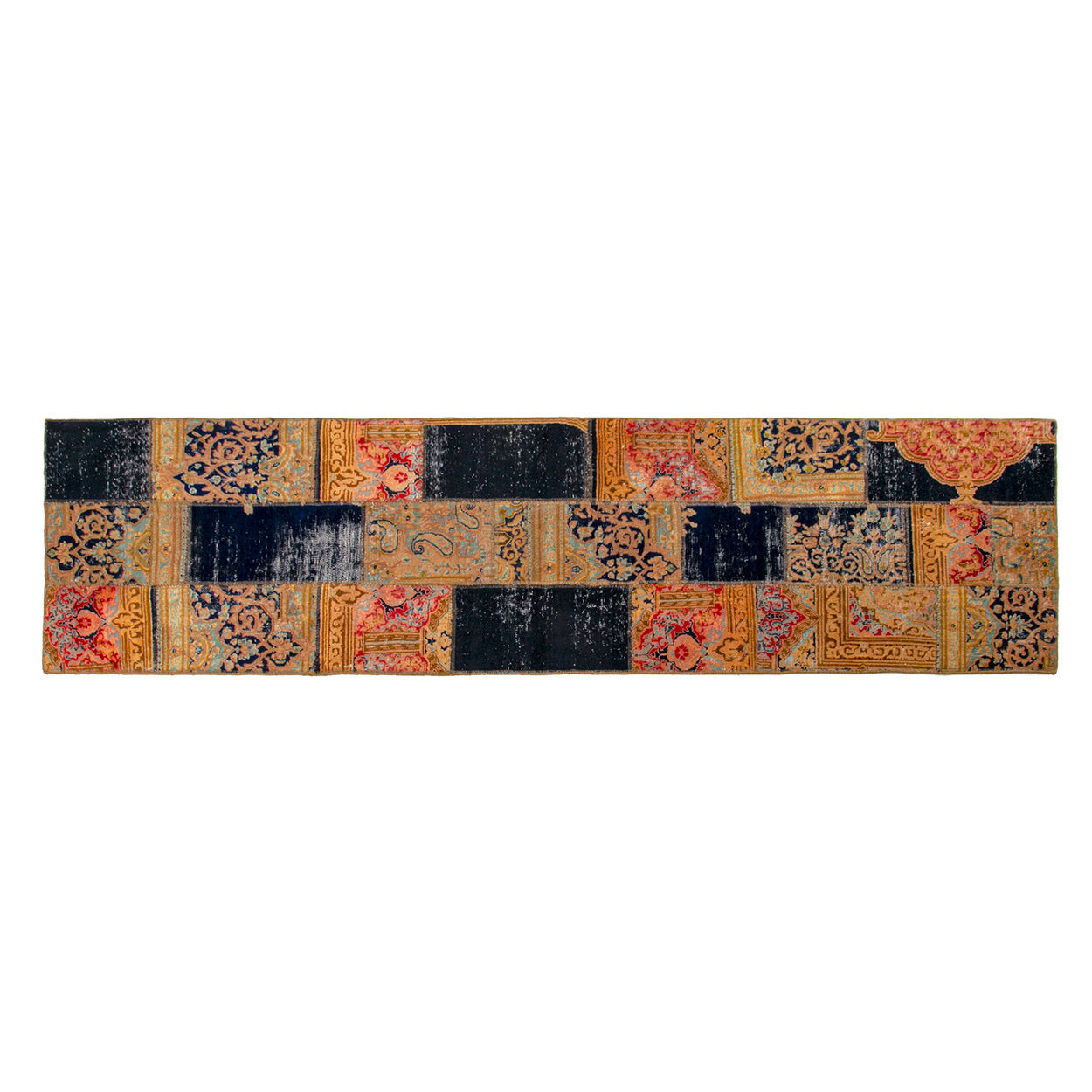 Image of Tappeto Vintage Patchwork 287x80, multicolore